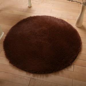 Меховые ковры КРУГЛЫЕ арт КВ40 толщина 4 см, цвет:коричневый