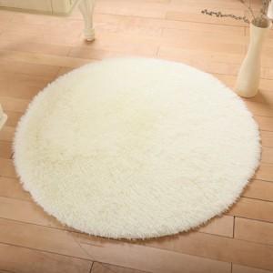 Меховые ковры КРУГЛЫЕ арт КВ40 толщина 4 см, цвет: бежевый