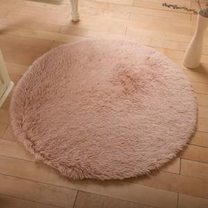 Меховые ковры КРУГЛЫЕ арт КВ40 толщина 4 см, цвет:чай с молоком