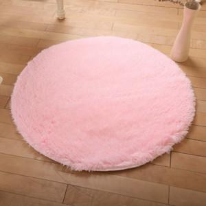 Меховые ковры КРУГЛЫЕ арт КВ40 толщина 4 см, цвет:сакура
