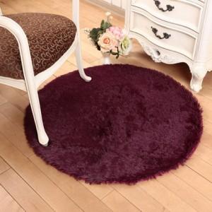 Меховые ковры КРУГЛЫЕ арт КВ40 толщина 4 см, цвет:вино