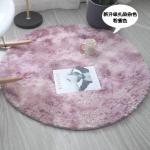 Меховые ковры КРУГЛЫЕ арт КВ40 градиент, цвет:розовый
