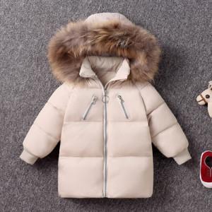 Куртка детская арт КД092, цвет:белый рис, пух