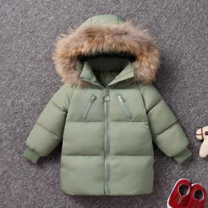 Куртка детская арт КД092, цвет:зеленый, пух