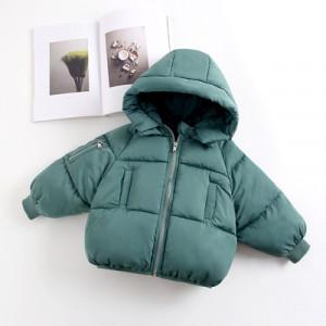 Куртка детская арт КД094, цвет:темно-зеленый