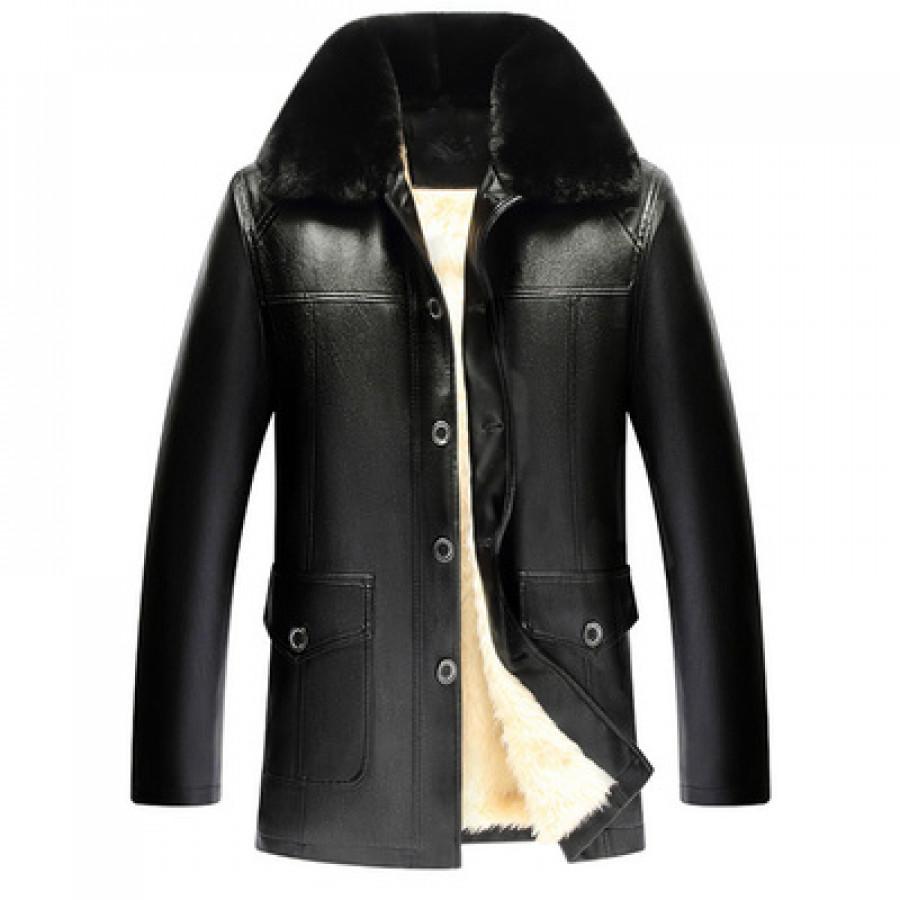 Куртка мужская арт КМ1,цвет: пять пуговиц, белый подклад