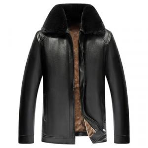 Куртка мужская арт КМ1,цвет:новый меховой в-к черный