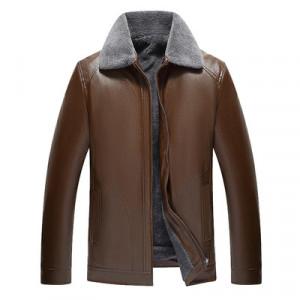 Куртка мужская арт КМ1,цвет: мех на один отворот,19 коричневый