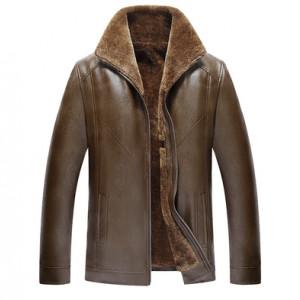 Куртка мужская арт КМ1,цвет: меховая молния 19,коричневый