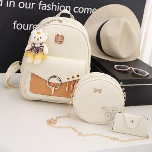 Комплект рюкзак из 3 предметов арт Р507, цвет:белый