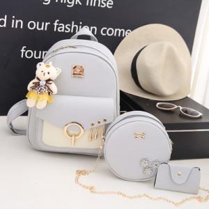 Комплект рюкзак из 3 предметов арт Р507, цвет:серый