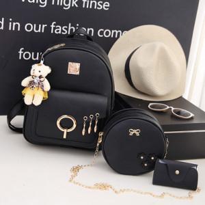 Комплект рюкзак из 3 предметов арт Р507, цвет:черный