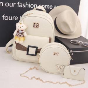 Комплект рюкзак из 3 предметов арт Р507, цвет:квадрат белый
