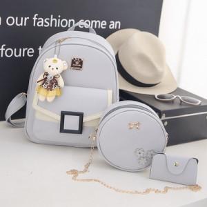 Комплект рюкзак из 3 предметов арт Р507, цвет:квадрат серый
