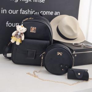 Комплект рюкзак из 3 предметов арт Р507, цвет:квадрат черный