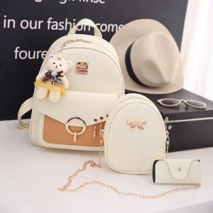 Комплект рюкзак из 3 предметов арт Р507, цвет:груша белый