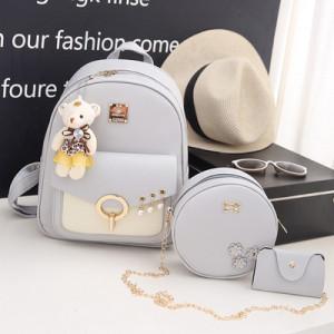 Комплект рюкзак из 3 предметов арт Р507, цвет: жемчуг серый