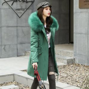 Куртка женская арт КЖ205 цвет:зеленый