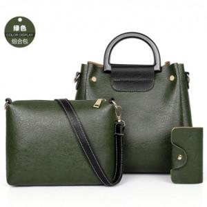 Комплект сумок из 3 предметов арт А397,цвет:зеленый