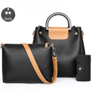 Комплект сумок из 3 предметов арт А397,цвет:черный