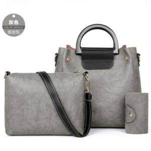 Комплект сумок из 3 предметов арт А397,цвет:серый