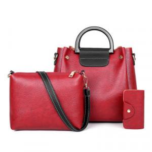Комплект сумок из 3 предметов арт А397,цвет:красный