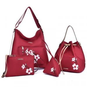 Комплект сумок из 4 предметов арт А406,цвет:красный