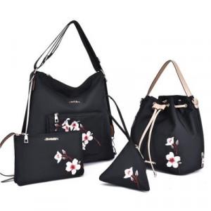 Комплект сумок из 4 предметов арт А406,цвет:черный