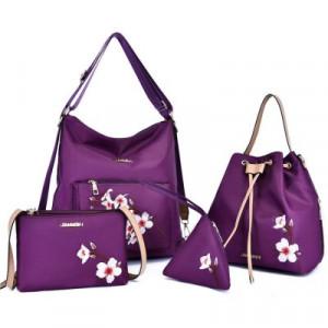 Комплект сумок из 4 предметов арт А406,цвет:фиолетовый