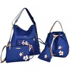 Комплект сумок из 4 предметов арт А406,цвет:синий