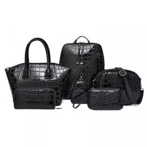 Комплект сумок из 6 предметов арт А396,цвет:черный
