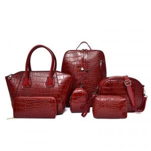 Комплект сумок из 6 предметов арт А396,цвет:вино