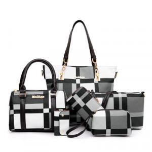 Комплект сумок из 6 предметов арт А395,цвет:черный