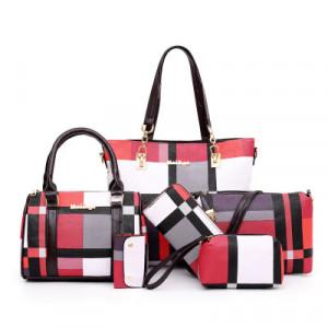 Комплект сумок из 6 предметов арт А395,цвет:красный