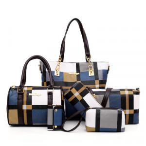 Комплект сумок из 6 предметов арт А395,цвет:синий