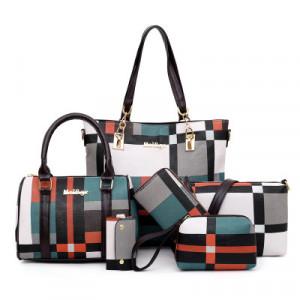Комплект сумок из 6 предметов арт А395,цвет:зеленый