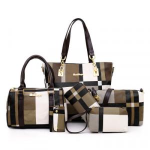 Комплект сумок из 6 предметов арт А395,цвет:коричневый