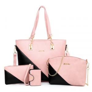 Комплект сумок из 4 предметов арт А394,цвет:розовый