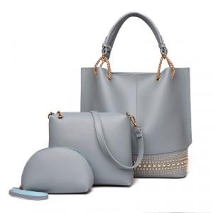 Комплект сумок из 3 предметов арт А408,цвет:серый