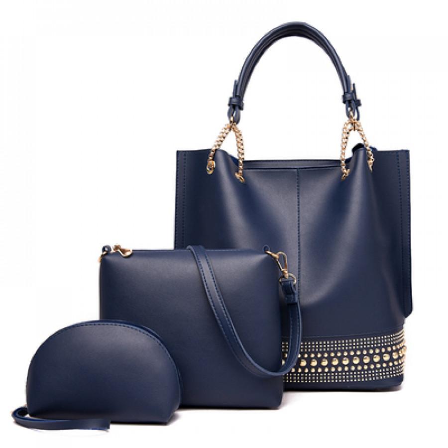 Комплект сумок из 3 предметов арт А408,цвет:синий
