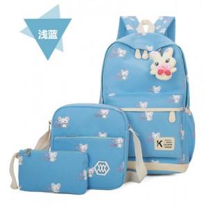 Набор рюкзак из 3 предметов арт Р357 мыши,голубой