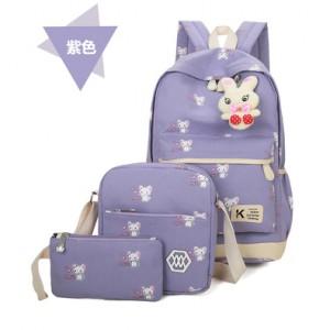 Набор рюкзак из 3 предметов арт Р357 мыши, фиолетовый