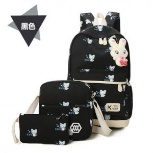 Набор рюкзак из 3 предметов арт Р357 мыши, черный