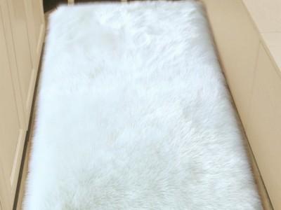 Ковёр с искусственным мехом, белый арт 5035