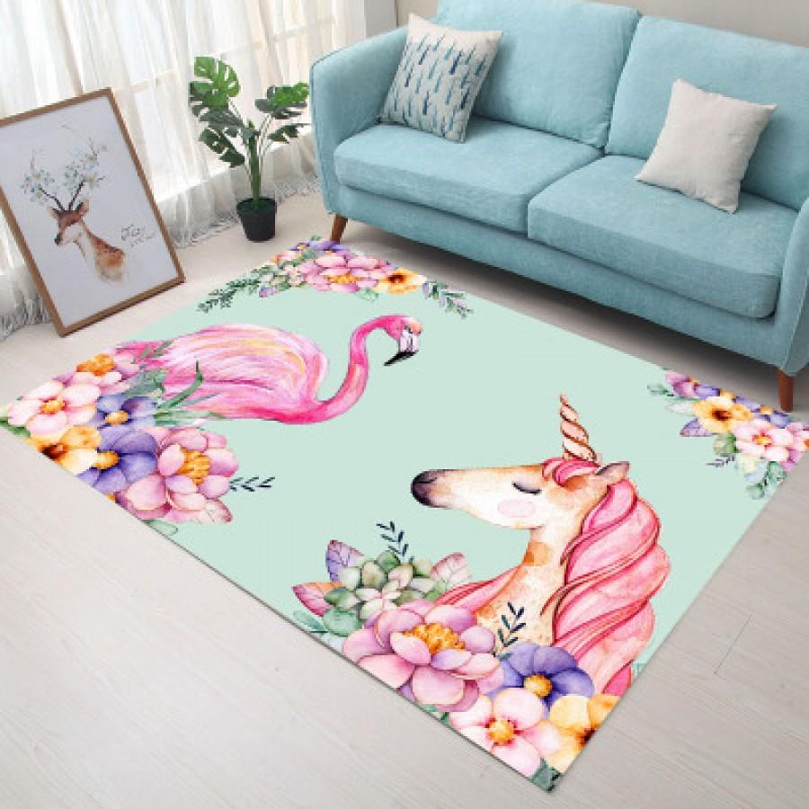 Ковер арт КВ13, цвет: единорог фламинго ЦЕНА СНИЖЕНА!