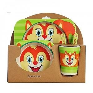 Набор детской посуды из 5 предметов арт НД3, цвет: Белочка