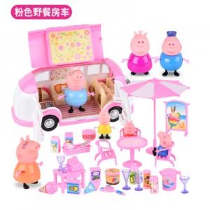 Набор Пеппа, розовый автомобиль для пикника