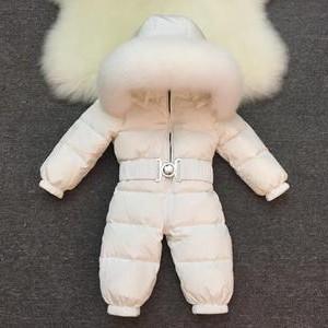 Комбинезон детский арт КД026, белый (белая лиса)