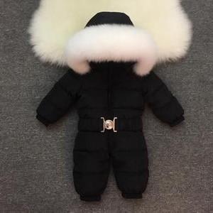 Комбинезон детский арт КД026,  черный (белая лиса)