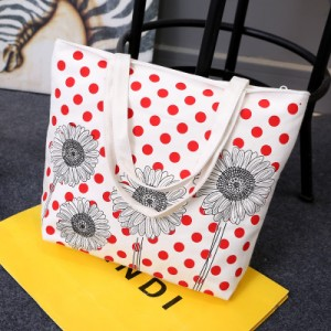 Пляжная сумка арт 0762 красный подсолнух